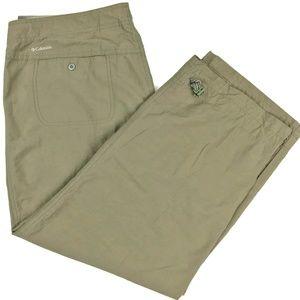 Columbia Capris Nylon Hiking Tan Pants Size Large